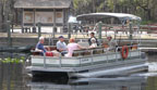 Guided tours via pontoon boats