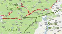 Proximity of Nantahala National Forest, western North Carolina
