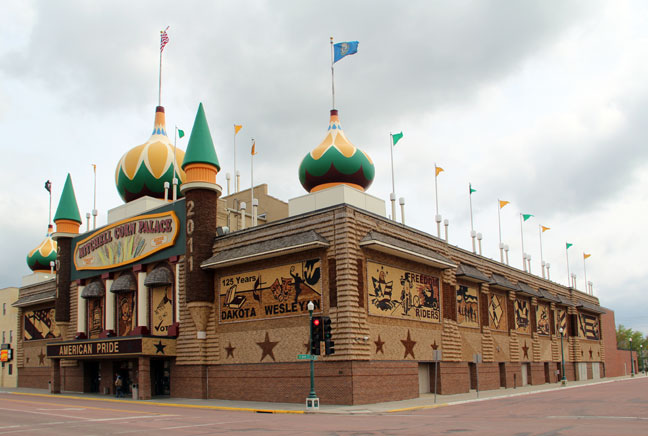 The Corn Palace, a town tradition in the spirit of county fairs, not so corny as one might think.